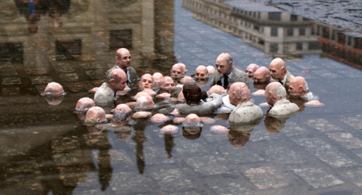 Follow the leaders, Berlin. Germany. 2011 by Isaac Cordal