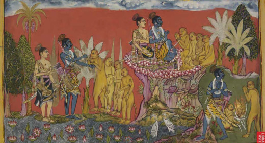 This illustration is from the fourth book, the Book of Kiskindha