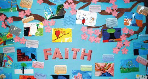 The faithe Faith board the pupils created