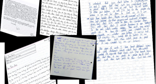 Pupils letters from heaven