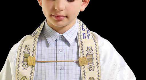 young Jewish boy wearing tefillin